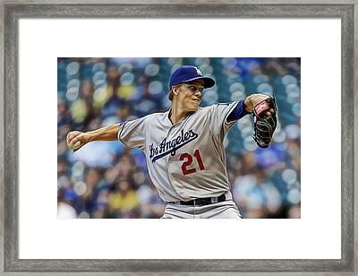 Zack Greinke Los Angeles Dodgers Framed Print