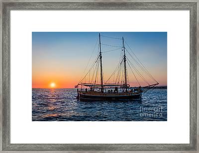 Zadar Ship Framed Print by Inge Johnsson