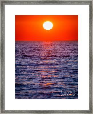 Zadar Sunset Framed Print
