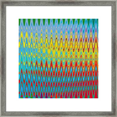 Zag Quilt Framed Print by Adria Trail
