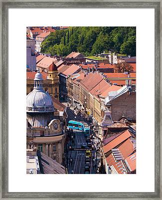 Zagreb Afternoon Framed Print by Rae Tucker