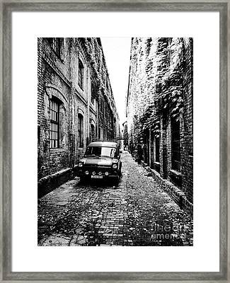 Zagreb Alley Framed Print by JMerrickMedia