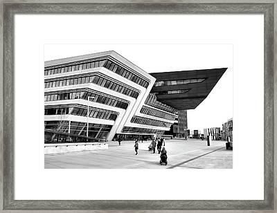 Zaha Hadid Library Center Wu Campus Vienna Framed Print