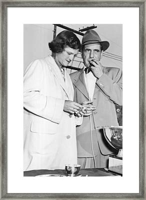 Zaharias And Bogart Framed Print by Underwood Archives