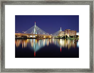 Zakim Aglow Framed Print