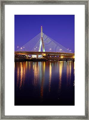 Zakim At Twilight II Framed Print