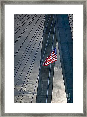 Zakim Bridge Boston Framed Print by Elena Elisseeva