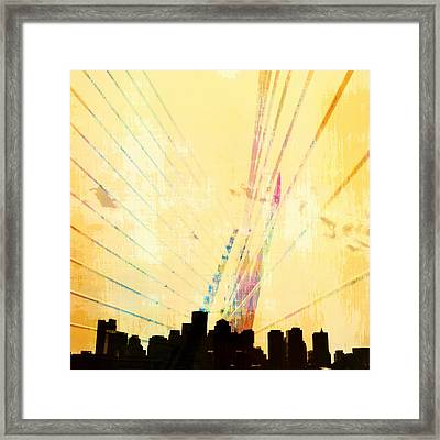 Zakim Bridge Boston V3 Framed Print by Brandi Fitzgerald