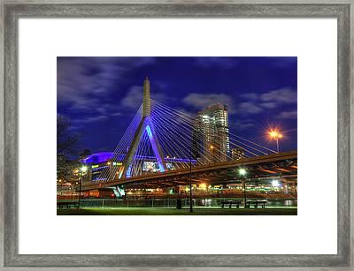 Zakim Bridge - Paul Revere Park - Boston Framed Print by Joann Vitali