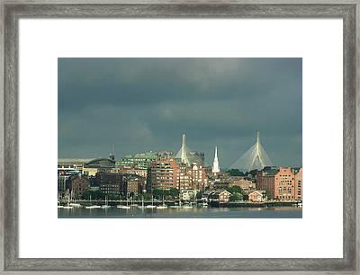 Zakim Bunker Hill Bridge Framed Print