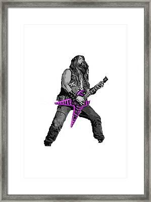 Zakk Guitarist Framed Print by Andrea Mazzocchetti