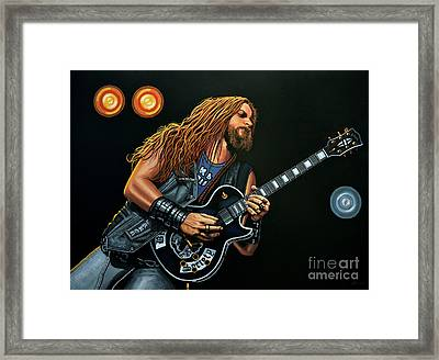 Zakk Wylde Framed Print by Paul Meijering