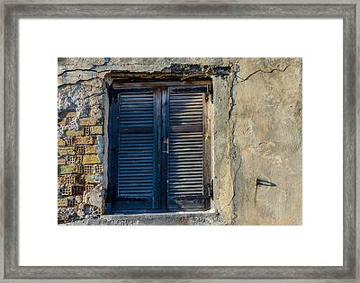 Zakynthos Town Window Framed Print by Rainer Kersten