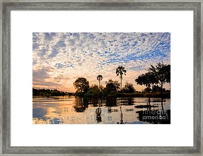 Zambezi Sunset Framed Print by Delphimages Photo Creations