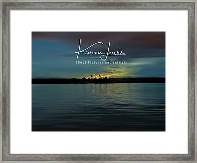 Framed Print featuring the photograph Zambezi Sunset by Karen Lewis