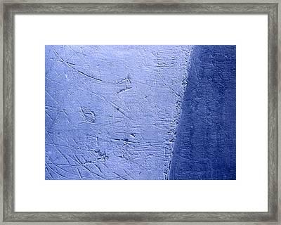Zambonied Ice Framed Print by Ken Yackel