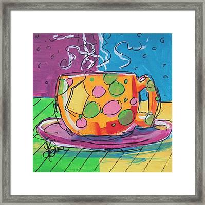 Zany Teacup Framed Print