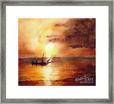 Zanzibar Sunrise Framed Print