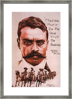 Zapata With Riderless Horse Framed Print by Bill Olivas