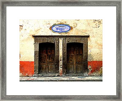 Zapateria Susy Framed Print by Mexicolors Art Photography