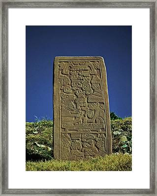 Zapotec History Framed Print by Juergen Weiss