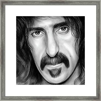 Zappa Framed Print by Greg Joens