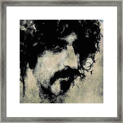 Zappa Framed Print by Paul Lovering