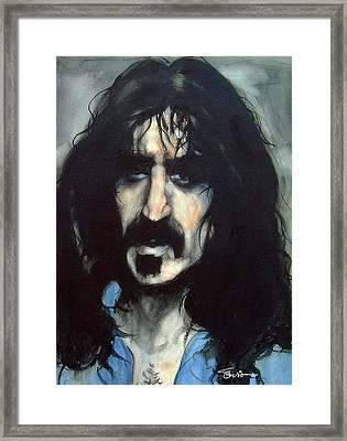 Zappa Framed Print by Savio Mizzi