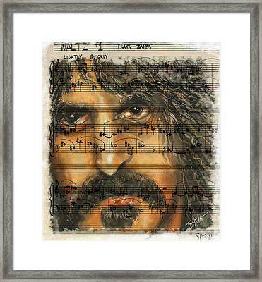Zappa Sheet Music Framed Print