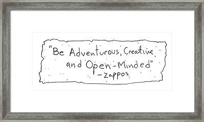 Zappos Core Value Framed Print