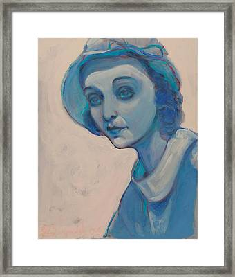 Zasu In Blue Framed Print
