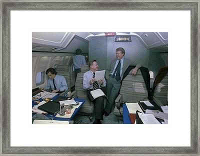 Zbigniew Brzezinski And Jimmy Carter Framed Print
