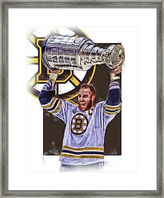 Zdeno Chara Boston Bruins Oil Art Framed Print by Joe Hamilton