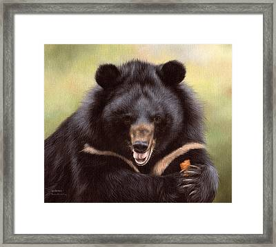Zebedee Moon Bear - In Support Of Animals Asia Framed Print