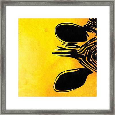 Zebra Animal Yellow Decorative Poster 6 - By  Diana Van Framed Print by Diana Van