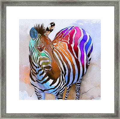 Zebra Dreams Framed Print by Galen Hazelhofer