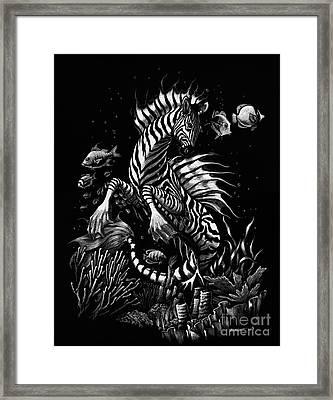 Zebra Hippocampus Framed Print