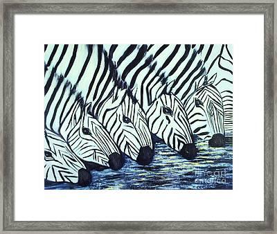 Zebra Line Framed Print