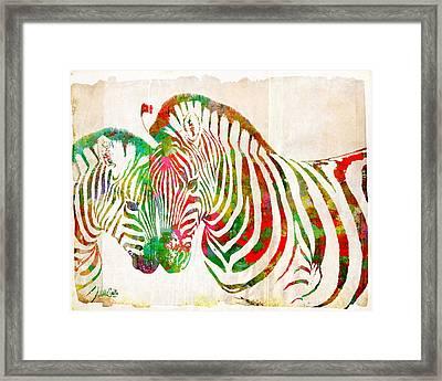 Zebra Lovin Framed Print by Nikki Smith