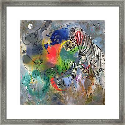 Zebra Mares Framed Print by Jane Deakin