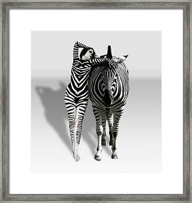 Zebra Woman Framed Print by Lloyd Burchell
