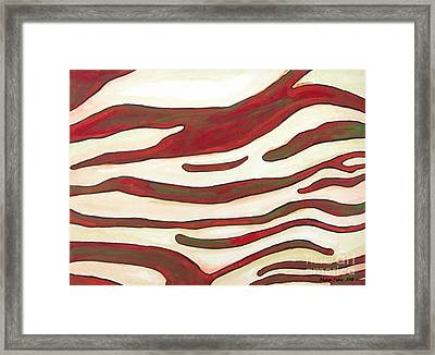 Zebra Zone - Color On White Framed Print