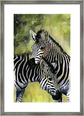 Zebras Framed Print by Roger Bonnick
