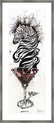 Zebratini Framed Print