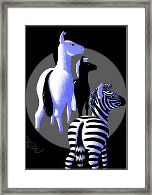 Zebredee Framed Print
