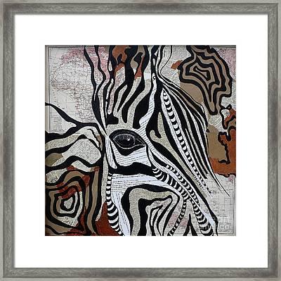 Zebroid Framed Print