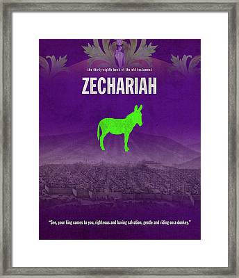 Zechariah Books Of The Bible Series Old Testament Minimal Poster Art Number 38 Framed Print