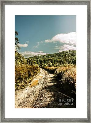 Zeehan Dirt Road Landscape Framed Print