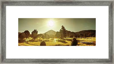 Zeehan Golf Course Framed Print