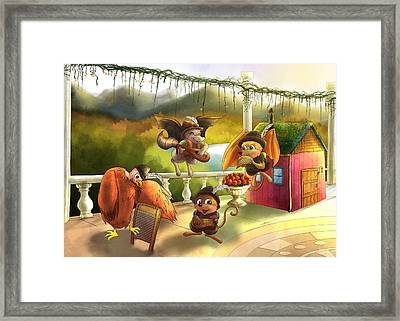 Zeke Cedric Alfred And Polly Framed Print